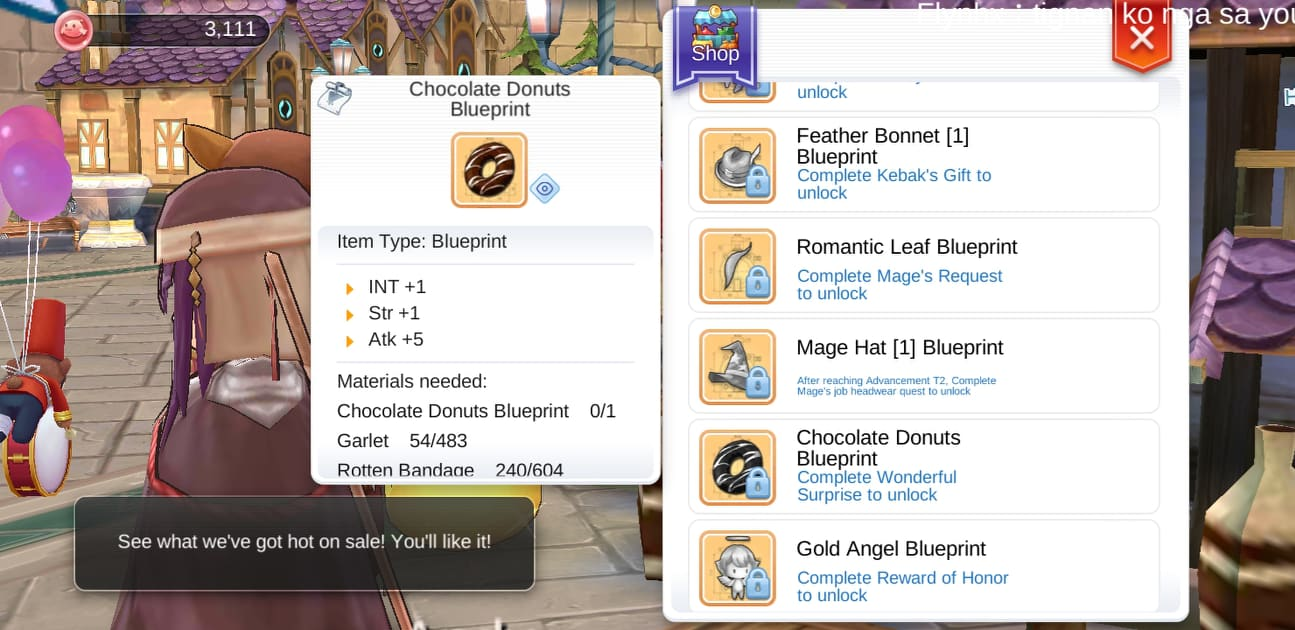 Get Chocolate Donuts Blueprint in Ragnarok Mobile - Ragnarok Mobile